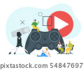 Online podcast flat vector illustration 54847697