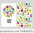 Vegan menu template set 54848201