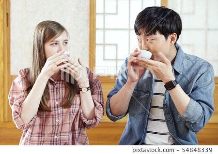 커플,다기,다도,전통,문화,한국문화,전통가옥,한옥,서울 54848339