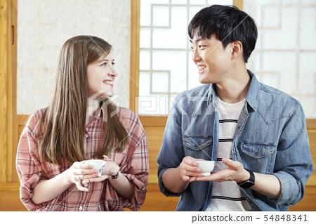 커플,다기,다도,전통,문화,한국문화,전통가옥,한옥,서울 54848341