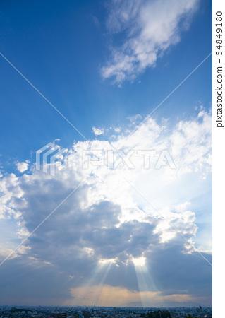 구름 · 광망 천사의 사다리 54849180