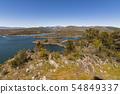 Panoramic landscape of the Atazar dam. madrid 54849337