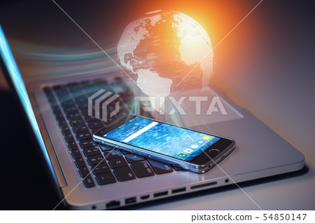 Global communication, Internet connection and 54850147