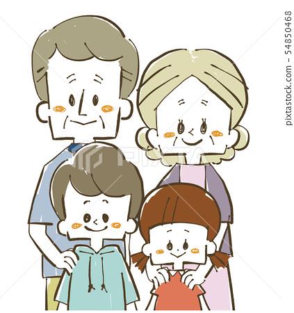 가족 - 손자와 조부모 54850468