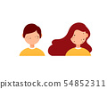 Types of acne diagram illustration vector on white background, Beauty concept. 54852311