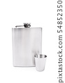 Flask and a small glass 54852350