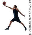basketball player man isolated silhouette shadow 54852519