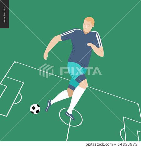 European football, soccer player 54853975
