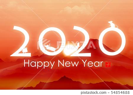 新年賀卡2020 54854688