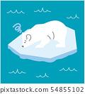 얼음이 녹아 곤란 백곰 54855102