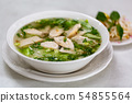 Chicken rice noodle soup 54855564
