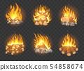 Wooden campfire set 54858674