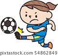 축구를하는 일본 여자 54862849