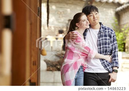 커플,연애,데이트,여행,관광,한옥,한국전통,북촌한옥마을,북촌,종로구,서울 54863223