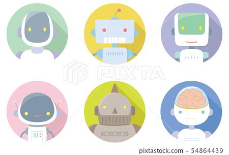 Flat icon _ robot 54864439