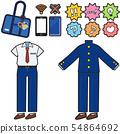남학생 여름 겨울 유니폼 (셔츠 교복)와 아이템 세트 54864692