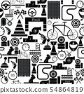 race seamless pattern background icon. 54864819