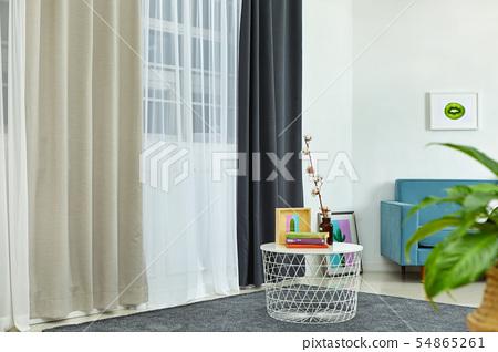 커튼, 침대, 이불, 실내 인테리어,  54865261