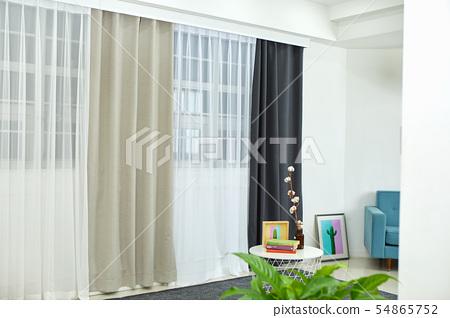 커튼, 이불, 창문, 54865752