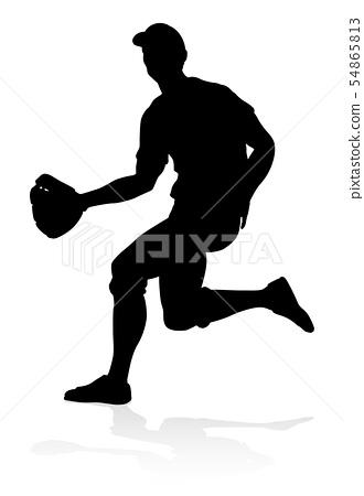 Baseball Player Silhouette 54865813