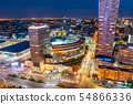City Of Warsaw By Night Downtown Cityscape 54866336