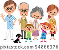 Large family in summer 54866376