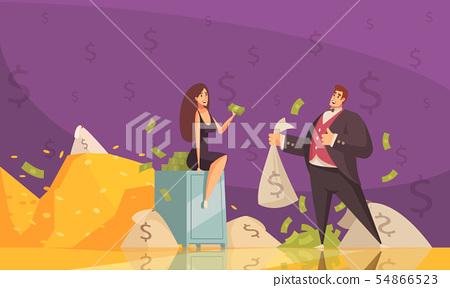 Rich Man Background Poster  54866523