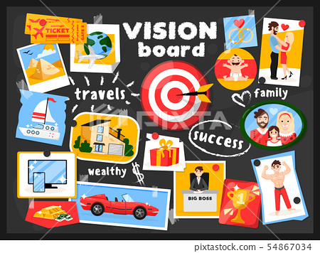Vision Map Board Background 54867034