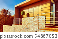 Attractive modern looking house 3d rendering 54867053