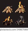 Campfire Phases Realistic Set 54867088