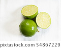Fresh green limes on white background 54867229