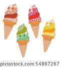 패치 워크 핸드 메이드 소프트 아이스크림 세트 54867267