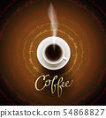 Abstract coffee design 54868827