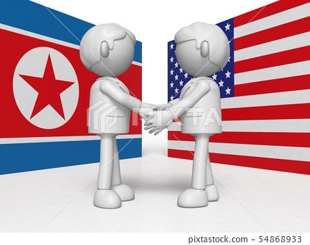美國和朝鮮握手 54868933