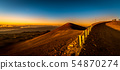 Mauna Kea山頂的朝日在夏威夷海島上的 54870274