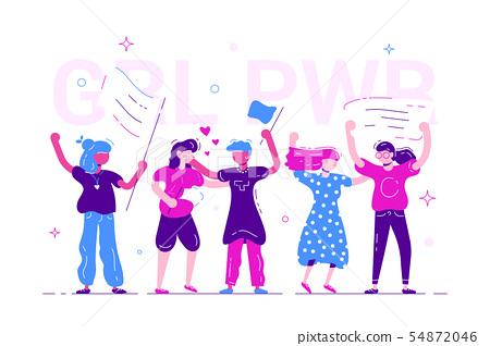 Girl power. Feminism concept.  54872046