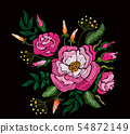 Fashion floral embroidery. 54872149