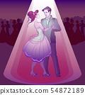 Couple dancing waltz 54872189