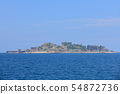 [Nagasaki Prefecture] Gunkanjima under sunny weather 54872736