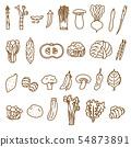 蔬菜2線圖紙什錦變化蔬菜材料 54873891