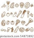 蔬菜1線繪圖什錦變異蔬菜材料 54873892