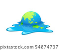 Melting Earth Vector. Concept global warming 54874737