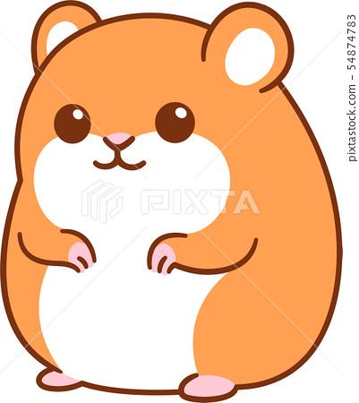 Cute cartoon hamster 54874783