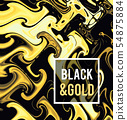 Gold jewelry on a black background. Vector illustration in black on gold style. 54875884