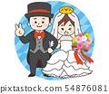 婚禮新娘和新郎 54876081