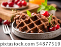 Chocolate Waffles With Berries 54877519