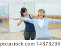 체육관 요가 수석 여성 이미지 54878290