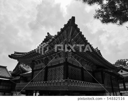 한국의 전통궁전 창덕궁, 흑백사진 54882516