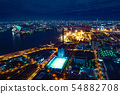 A night view seen from Osaka Port 54882708