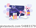 Genetic testing concept vector illustration 54883379